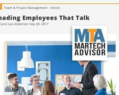 Press Coverage: Leading Employees that Talk <br/><span style='font-size: 80%;'>| MarTech Advisor |</span>